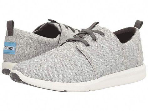 96cf0a72a64 TOMS Del Rey Sneaker Women s Lace up casual Shoes Grey Diamond Melange   Sneakers