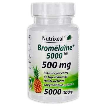 Bromélaïne 5000 500 mg Nutrixeal 60 gélules   Extrait