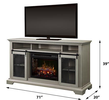 Olivia Electric Fireplace Tv Stand In Stone Fox In 2020 Electric