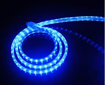 Cbconcept Ul Listed 3 3 Feet 360 Lumen Blue Dimmable 110 120v Ac Flexible Flat Led Strip Rope Light 60 Units 3528 Smd Leds Indoor Outdoor Use Accessorie