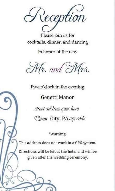 Black And White Simple Elegant Wedding Reception Invitation