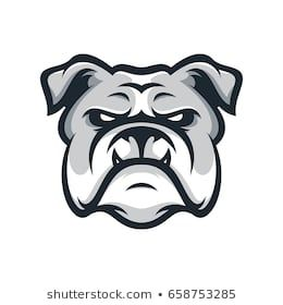 Bulldog Wild Animal Head Mascot Logo Illustration Vector Bulldog