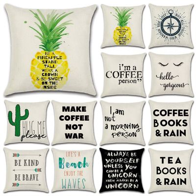 Wholesale Proverbs Series 4 English Famous Proverbs Theme Pillow Cover And Cushion Cover Linen 1 04 Pc From Import With Images Linen Pillow Cases Linen Pillows Pillows