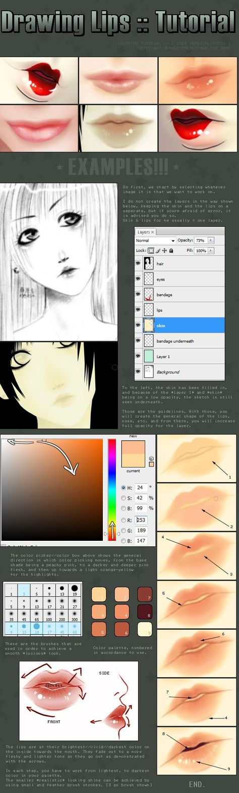 Photo of Drawing Lips :: Tutorial by moral-extremist on DeviantArt