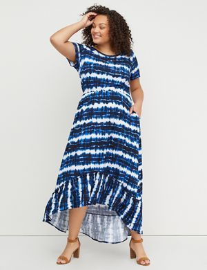 Tie-Dye Fit & Flare Midi Dress | Lane Bryant | Lane Bryant ...