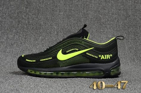 best service 91d4e 051fc Cheap Off White X Nike Air Max 97.2 KPU Mens shoes  Black  Green  Max97.2  WhatsApp 8613328373859