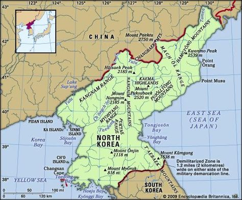 North Korea: North Korea, country in East Asia that occupies the