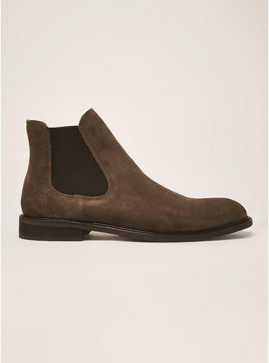 Mens SELECTED HOMME Brown Suede Baxter