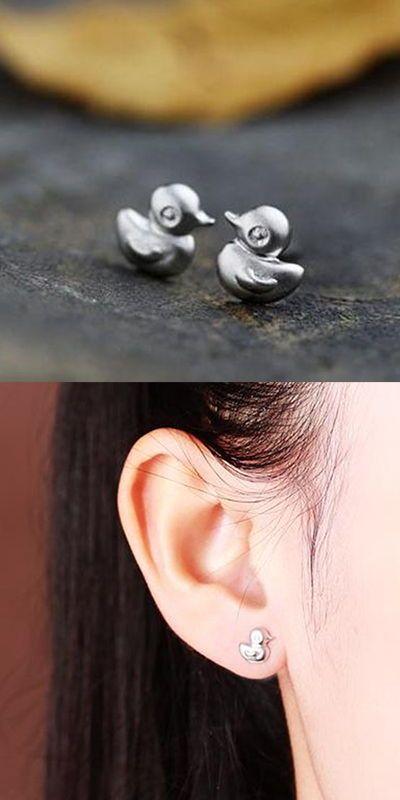Colorful Cubic Zirconia Enamel Parrot Hummingbird Bird Ear Stud Earrings Animal Jewelry for Women Girls