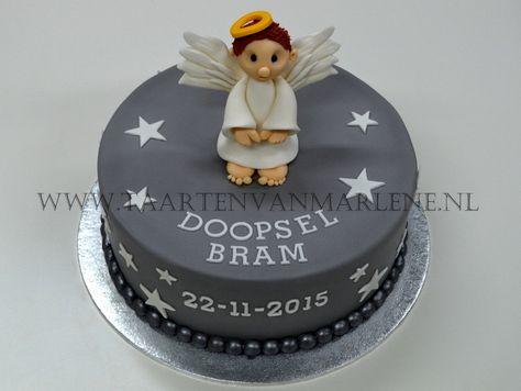 Doop taart met engel