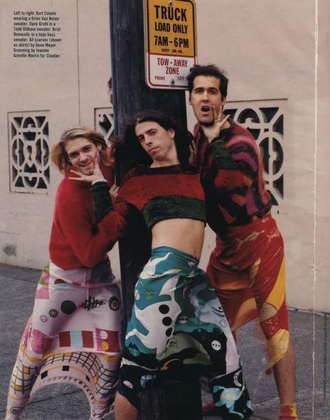 Nirvana, Mademoiselle magazine, 1993. - Imgur