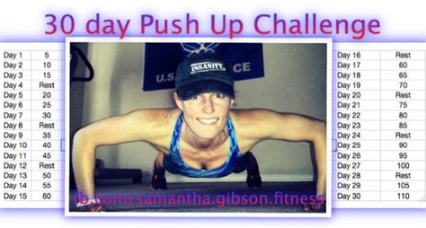 Push Up Challenge - 30 days; Drew claims he is doing this one....holding him to it!!! :)