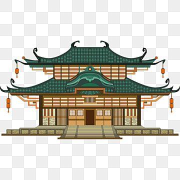 Gambar Ilustrasi 2d Bangunan Kuil Tradisional Jepang Arsitektur Jepang Ilustrasi Segar Kecil Gaya Jepang Ilustrasi Bait Suci Png Dan Vektor Dengan Latar Bela Arsitektur Jepang Ilustrasi Arsitektur