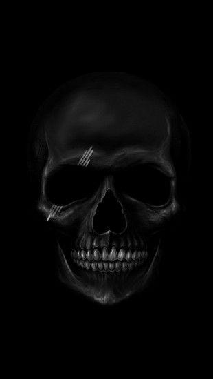 Black Skull The Iphone Wallpapers In 2019 Skull