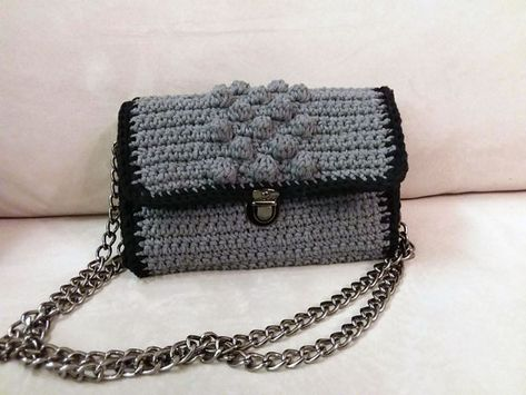 bc95f7b6d27f Σεμινάριο Πλεκτές τσάντες με Βελονάκι   our creations   Bags, Chanel ...