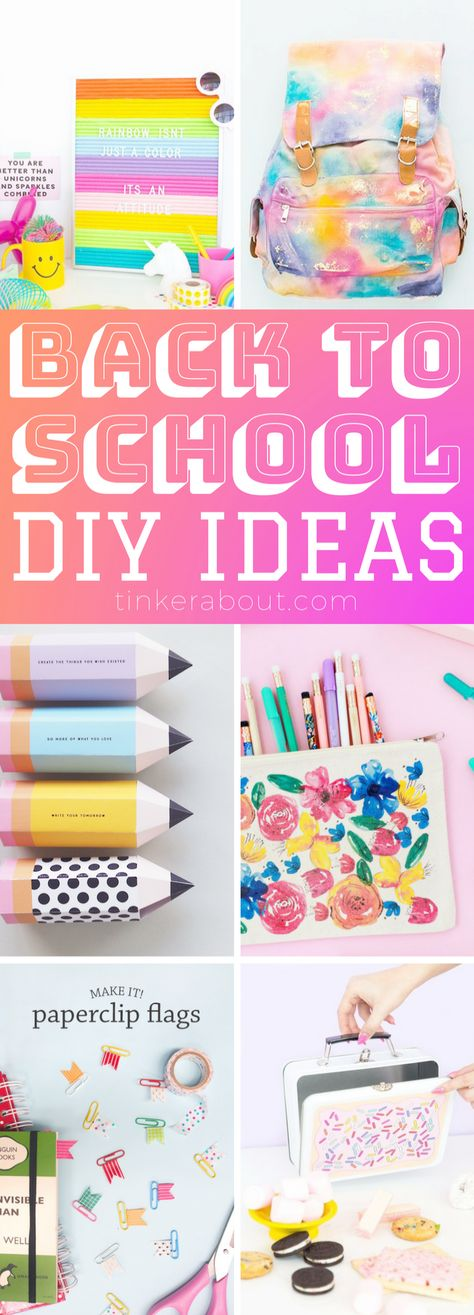 List of Pinterest crafts for teens to make projects back to school