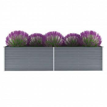 Huberxxl Huberxxl Gartenpflanzen Verzinkter Stahl 320x80x77 Cm Grau In 2020 Verzinkter Stahl Garten Pflanzkasten Garten Hochbeet