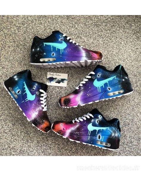 huge selection of b1d7d e4c82 Discount Chaussures De Sport Nike Air Max 90 Candy Goutte Galaxy Rose Bleu  Noir France