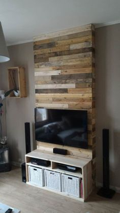 Wall From Pallet Wood Mur En Bois De Palettes Palette Bois Mur En Bois Et Meuble Tele En Palette