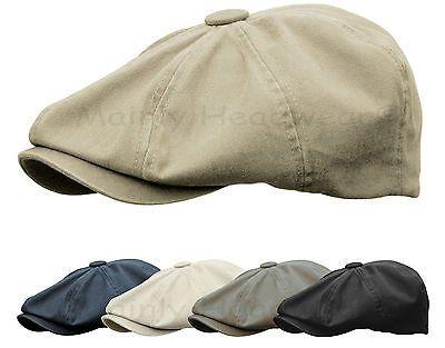 Washed Cotton Newsboy Gatsby Cap Men Ivy Hat Golf Driving Flat Peaky Blinders Hats For Men Newsboy Cap Men Mens Caps