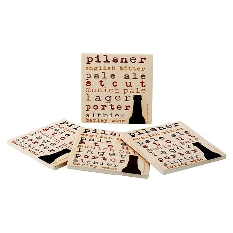 Food Network™ 4-pc. Beer Typography Coaster Set