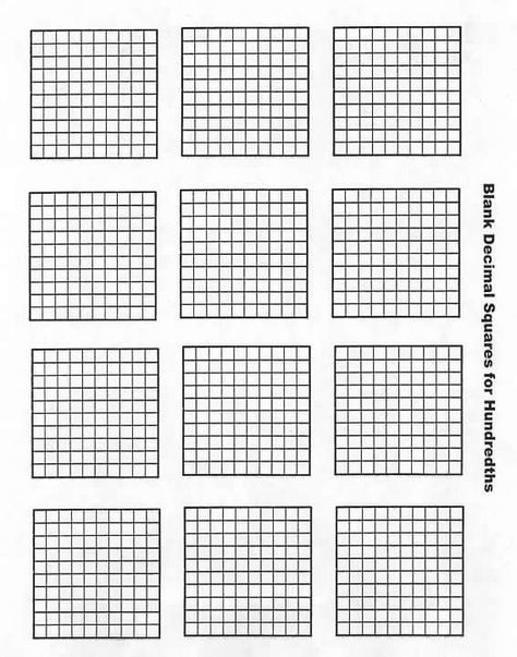 picture about Printable Hundredths Grid known as Pinterest