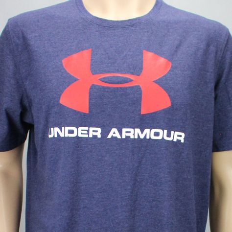 *NEW* Men/'s Under Armour Large Logo Heatgear Loose Fit T-Shirt