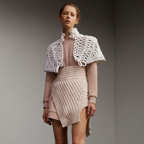 Burberry Hand-looped Rope Capelet