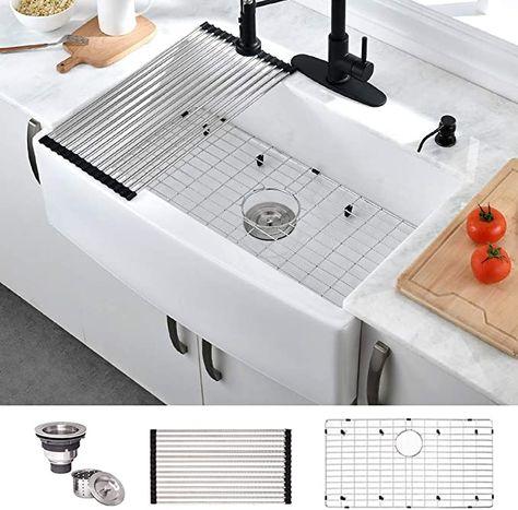24++ 6 inch deep farmhouse sink type