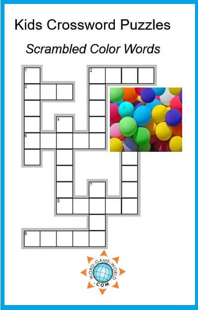 Fun Kids Crossword Puzzles
