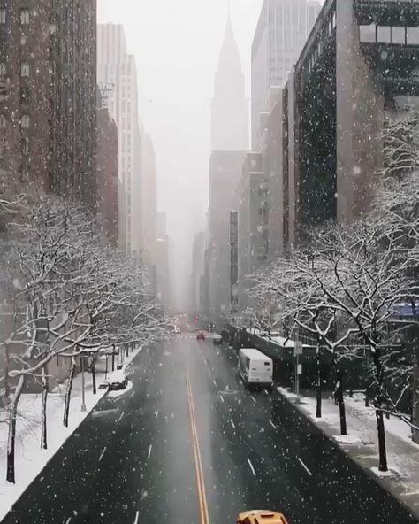 Wanneer het sneeuwt in New York #newyork #winter #citytrip #snow