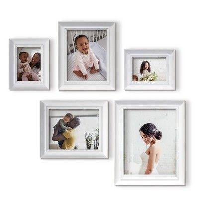 Find Product Information Ratings And Reviews For Frame Set 5pc Off White Qik Frame Online On Target Com Gallery Wall Frames Frame Set Frame