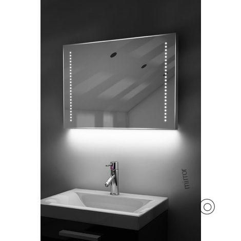 Auto Colour Change Rgb Shaver Bathroom Mirror With Demister Sensor K60srgb Auto Bathroom Change Colour With Images Bathroom Mirror Light Up Bathroom Mirror Mirror