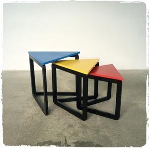 Tables Basses Gigognes Vintage Annees 80 Meuble Deco Mobilier De Salon Mobilier