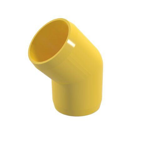 Formufit F03445e Ye 8 45 Degree Elbow Pvc Fitting Furniture Grade 3 4 Inch Size Yellow 8 Pack Size 4 Inch Furniture Grade Pvc Pvc Elbow Pvc Furniture