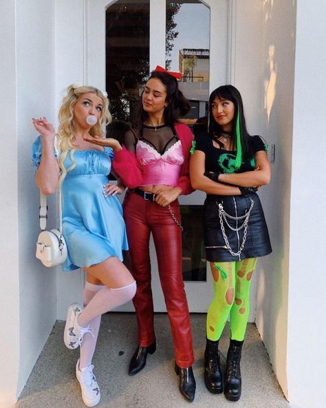 Powerpuff Girls Halloween Costume, Clueless Halloween Costume, Cowgirl Halloween Costume, Cute Group Halloween Costumes, Trendy Halloween, Easy Costumes, Halloween Kostüm, Costume Ideas, Halloween Office