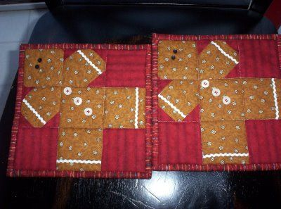 Gingerbread Man, quilt block as You can :-D