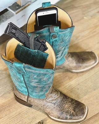6412074a3c0 Roper Women's Square Toe Sidewinder Concealed Carry Cowgirl Boot ...