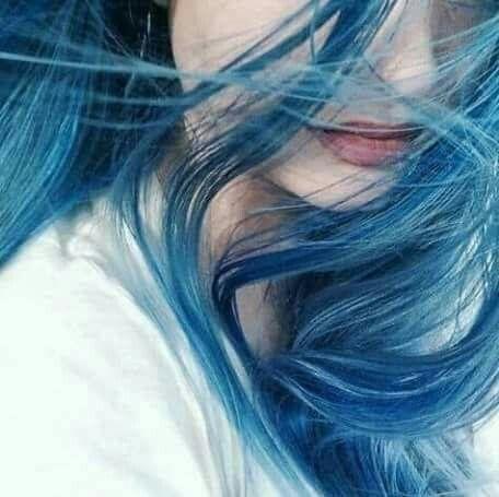 Blue Haired Girl Dyed Hair Hair Styles Hair Color