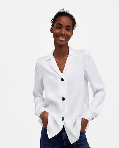 Women S Shirts Blouses New Collection Online Zara United States Womens Shirts Women Shirts Blouse Top Shirt Women