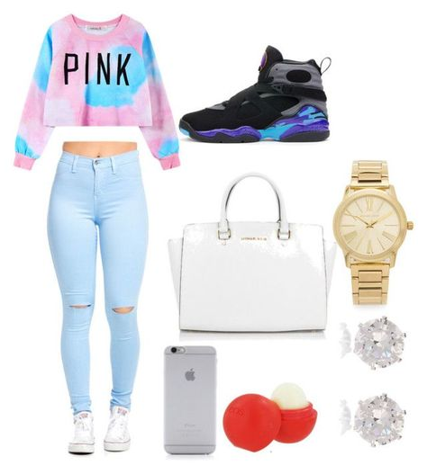"""""""How to Wear Jordans"""" by brij04 on Polyvore featuring Chicnova Fashion, Native Union, Eos, Michael Kors, River Island, women's clothing, women, female, woman and misses"""