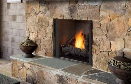 Courtyard Odcoug 36pt 36 Outdoor Traditional Fireplace With