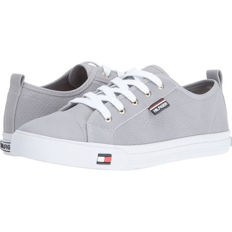 d4e8e4f2 Tommy Hilfiger Anibel 6 (Grey) Women's Shoes (€42) ❤ liked on Polyvore  featuring shoes, grey, synthetic shoes, round toe shoes, gray shoes, laced  up shoes ...