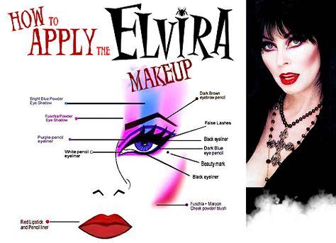 Halloween-Craft idea-Elvira makeup