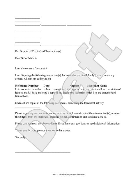 Sample Dispute Fraudulent Credit Card Transaction Form Template - credit card authorization forms