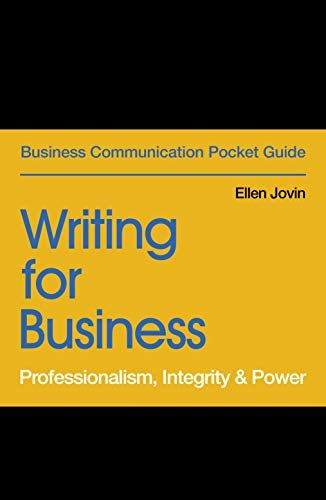 Free Pdf Writing For Business Professionalism Integrity Power
