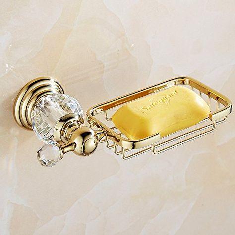 Auswind Antique Gold Brasscrystal Wall Mounted Bathroom Accessory