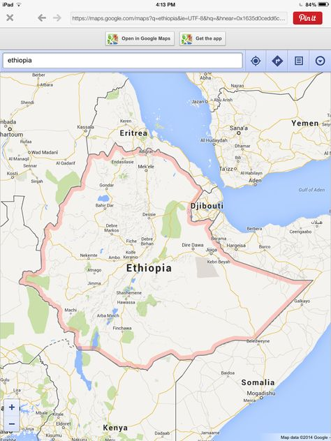 Map of Exodus Travels Discover Ethiopia trip itinerary 17 - new ethiopian plateau on world map