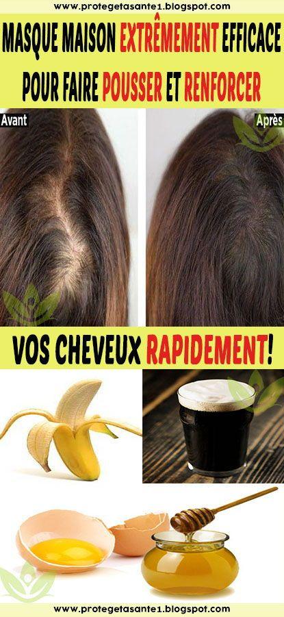 Masque Pour Faire Pousser Les Cheveux : masque, faire, pousser, cheveux, Masque, Maison, Extrêmement, Efficace, Faire, Pousser, Renforcer, Cheveux, Rapidement!, Beauty,