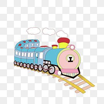 رسوم متحركة مرسومة باليد المركبات قطار سيارة الركاب قطار الكرتون مرسومة باليد Png وملف Psd للتحميل مجانا Cartoon Hand Painted Train